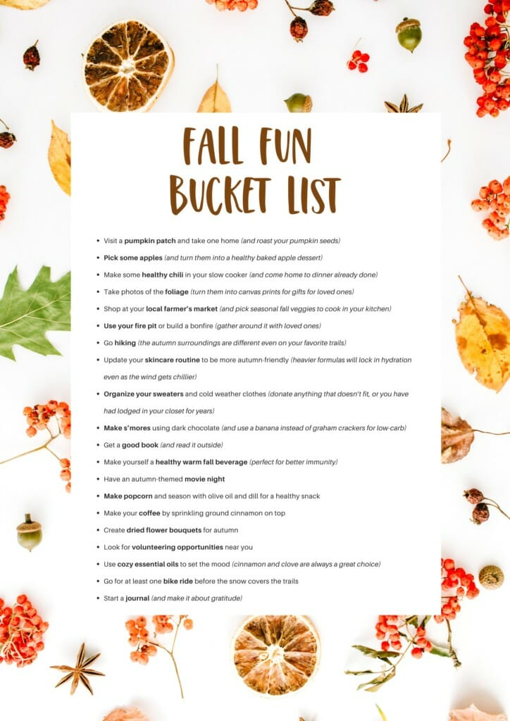Healthy Autumn Fun Buck List to Enjoy This Season // andreadahlman.com